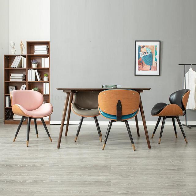 K-star Nordic Dining Chair Modern Minimalist Home Leisure Chair Coffee Shop Chair Wrought Iron Net Red Chair Coffee Shop Cha 3