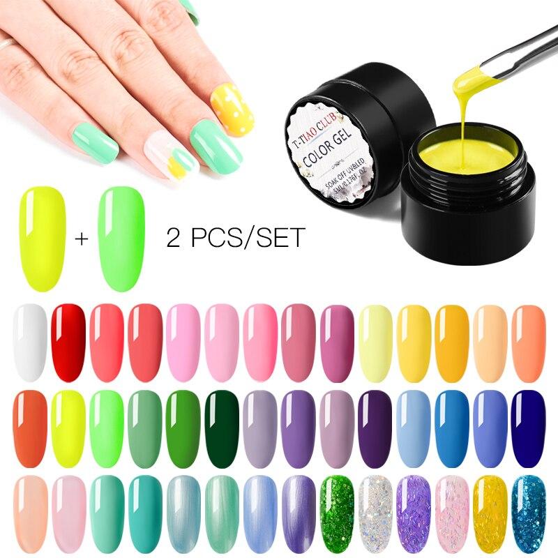 T-TIAO CLUB Primer Nails Gel Polish Semi Permanent Soak Off UV LED Gel Nail Polish Matte Top Base Coat Color Gel Varnish Nail Ar