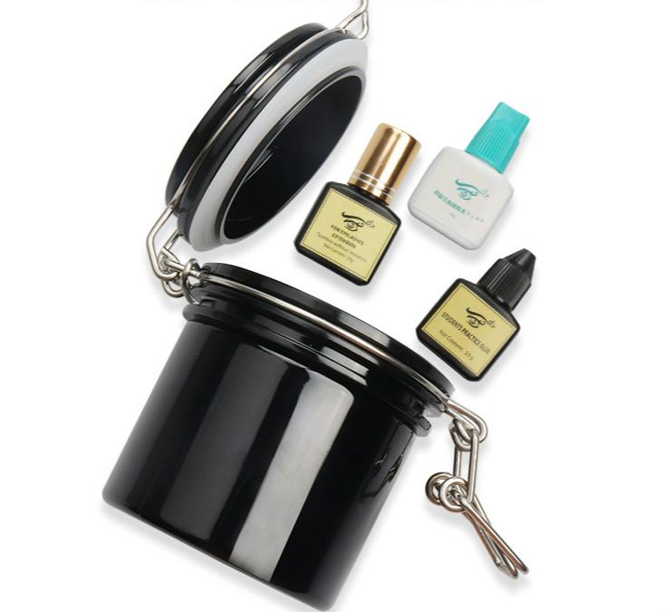 Eyelash Glue Storage Tank Individual Adhesive Stand Eyelash Extension Activated Sealed Storage Jar Container Makeup Tool