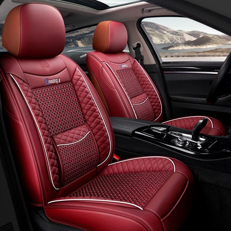 Housse de siège de voiture universelle pour auto mitsubishi pajero 4 2 sport outlander xl asx accessoires lancer 9 10 housses pour sièges de véhicule - 4