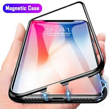 Перейти на Алиэкспресс и купить Магнитный адсорбционный металлический чехол для Samsung Galaxy Note 10 8 9 S20 Ultra S10 Plus A11 A31 M31 A70 A50 A60 A40S A30S A20E