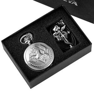 Retro Tone Fullmetal Alchemist High Grade Gifts Sets Pocket Watch Cosplay Edward Elric Anime Design Japan Anime Necklace Clock