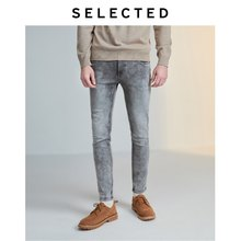 SELECTED Men's Stretch Cotton-blend Skinny Jeans LAB|419432511(China)