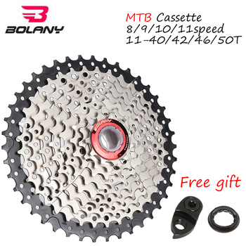 BOLANY 8s 9s 10s 11speed Cassette MTB Bike Aluminum Flywheel Mountain Bike Parts 11-40/42/46/50T Sprocket Derailleur Fit Shimano image