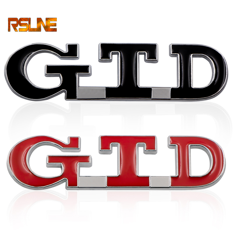 Car Styling GTD 3D Metal Emblem Car Sticker Zinc Alloy Badge Auto Tail Decal Car Styling For POLO Golf 7 Passat B6 MK4 MK5 MK7
