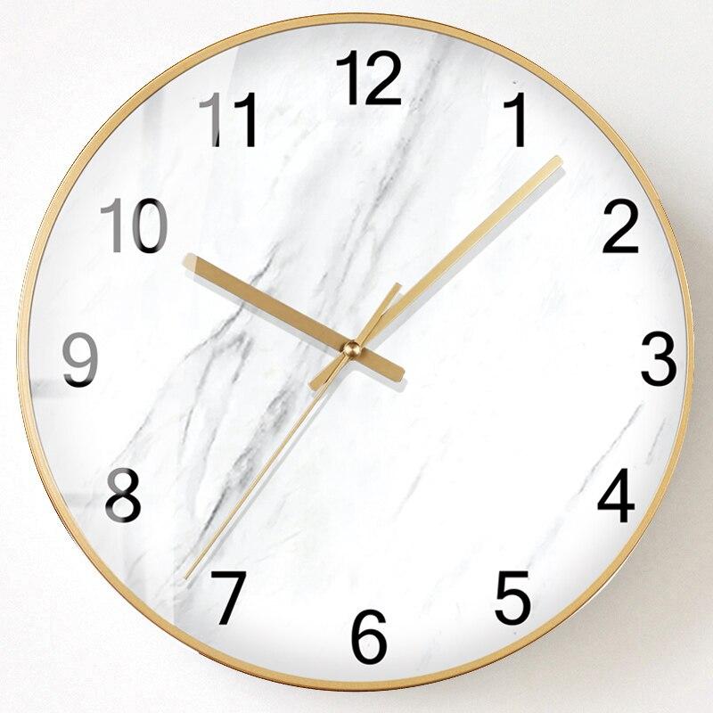 Minimaliste nordique horloge murale créatif silencieux cuisine salon horloges Design moderne élégant Relogio Parede Decoracion SS50WC - 4