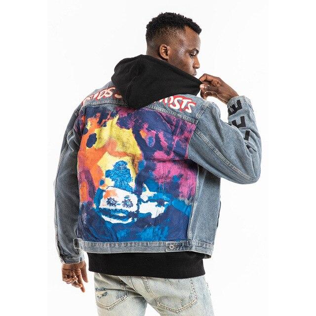 Veste Hip Hop Kanye West Graffiti hommes Streetwear
