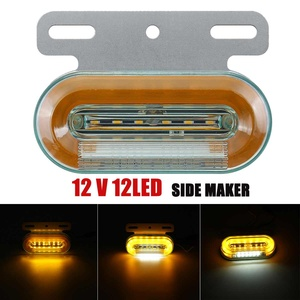 Image 2 - 10 sztuk 12V 24V LED samochodów ciężarówka boczne światła sygnalizacyjne lampy zewnętrzne wskaźnik sygnału lampa ostrzeżenie ogon światło przyczepa ciężarówka autobus łódź