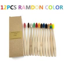 Радужная бамбуковая зубная щетка, щетка-туманка, зубная щетка из натурального мягкого ворса, экологически чистые щетки, инструменты для ухо...