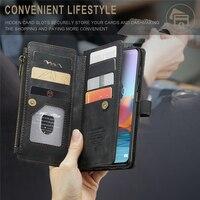 Brieftasche Flip-Cover Card Slot Leder Für Xiaomi Redmi Hinweis 9 10 Pro Max 10S 9S Magnetische Abnehmbare telefon Fall Luxus Coque Fundas