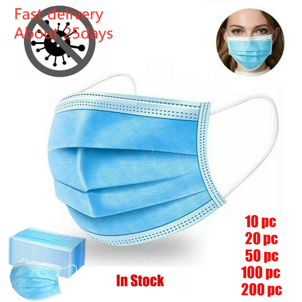 Mask Mascara 10/200pc Disposable Face Mask Dental Industrial 3ply Ear Loop Masks