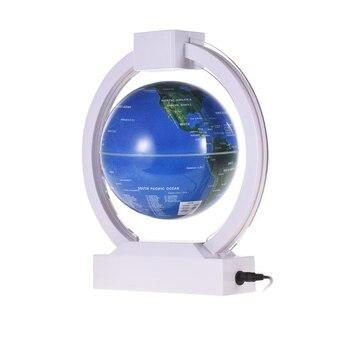 Globe de terre d'éclairage coloré de Globe de lévitation magnétique de 6 pouces avec la Base circulaire lumière LED pour la décoration de bureau de cadeaux d'enfants