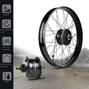 """Image 2 - Fat e bike Bafang 48V 750W tylne 20 """"26"""" silnik piasty koła elektryczne śnieg zestawy do konwersji rowerów DIY DC kaseta potężny silnik"""