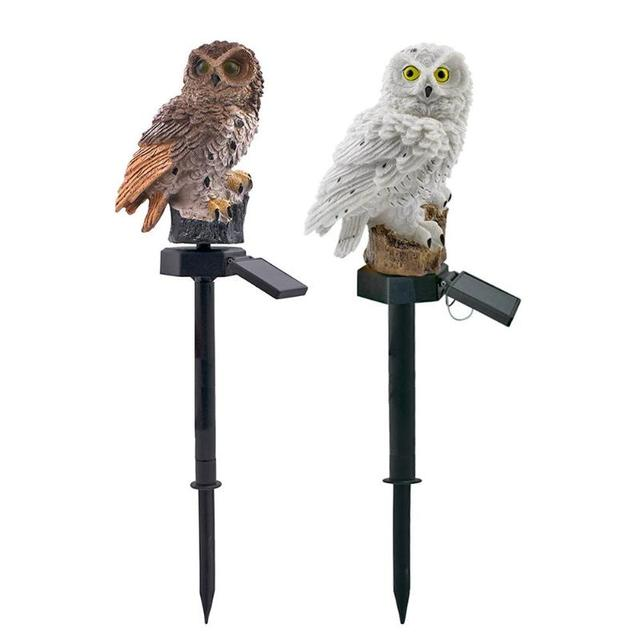 Owl Solar Light With Solar LED Panel Waterproof IP65 Outdoor Solar Powered Led Path Lawn Yard Garden Lamps Home Garden Decor 3
