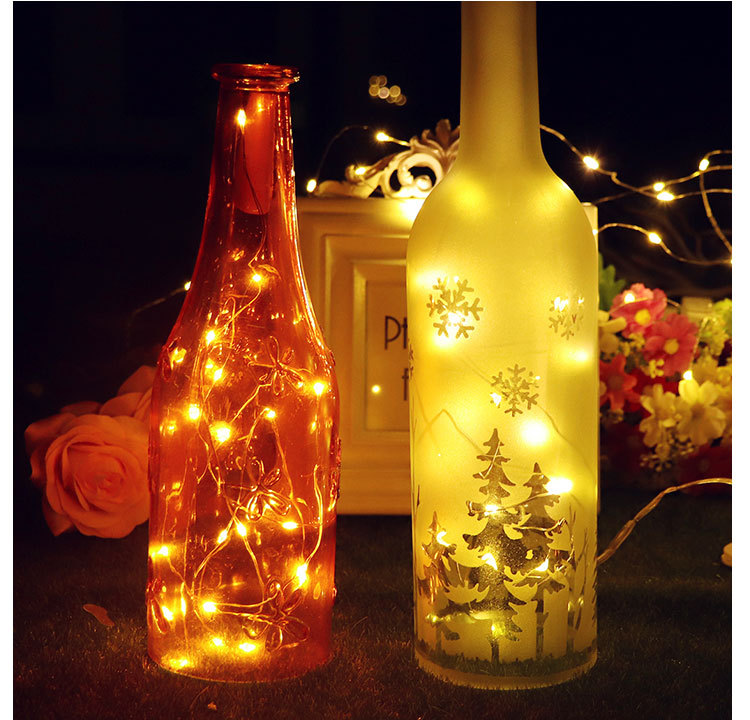 Garland Led String Light 20 LEDs Bottle Cap Chandelier Flash Lamp For Home Indoor Outdoo Christmas And Garden,lantern Decoration