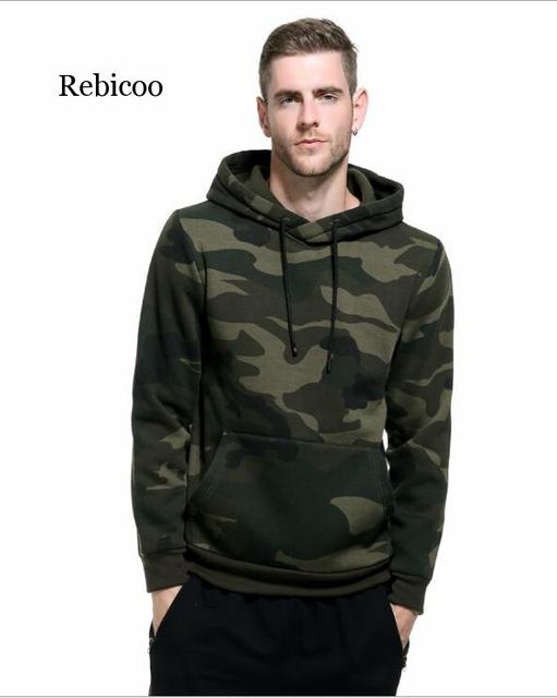 Plus Size Hoodies Camouflage Sweatshirt Men Hip Hop Cotton Tracksuit Sweat Hoodies Male Camo Hoody Military Hoodie US/EUR Size 4