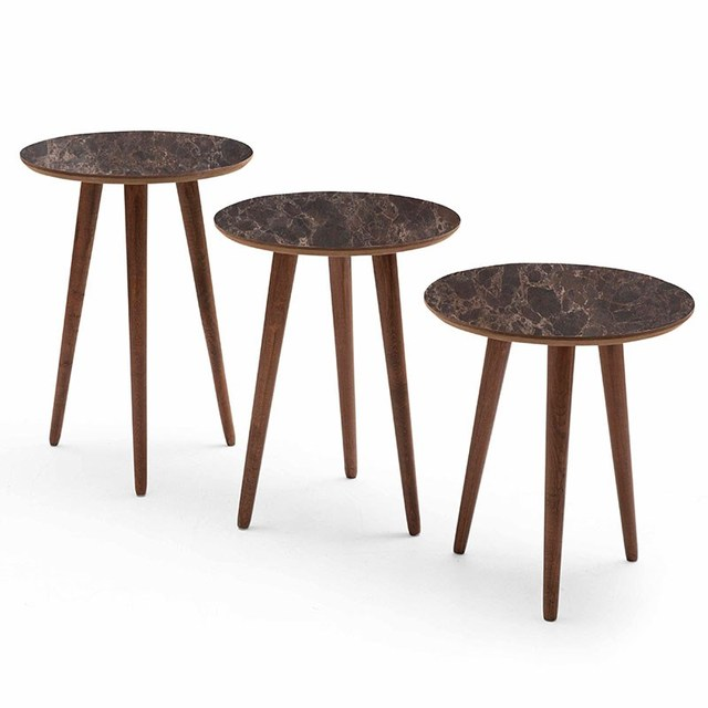 3 PCs Round Coffee Table  1