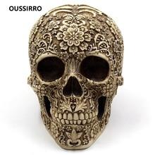 Resin Craft Skull Statues & Sculptures Garden Ornaments Creative Halloween Bar Decoration W3364