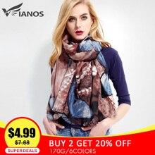 [VIANOSI] брендовый дизайнерский женский шарф, женский шарф с принтом бабочки, хлопковые зимние шарфы, бандана, шарф VR001