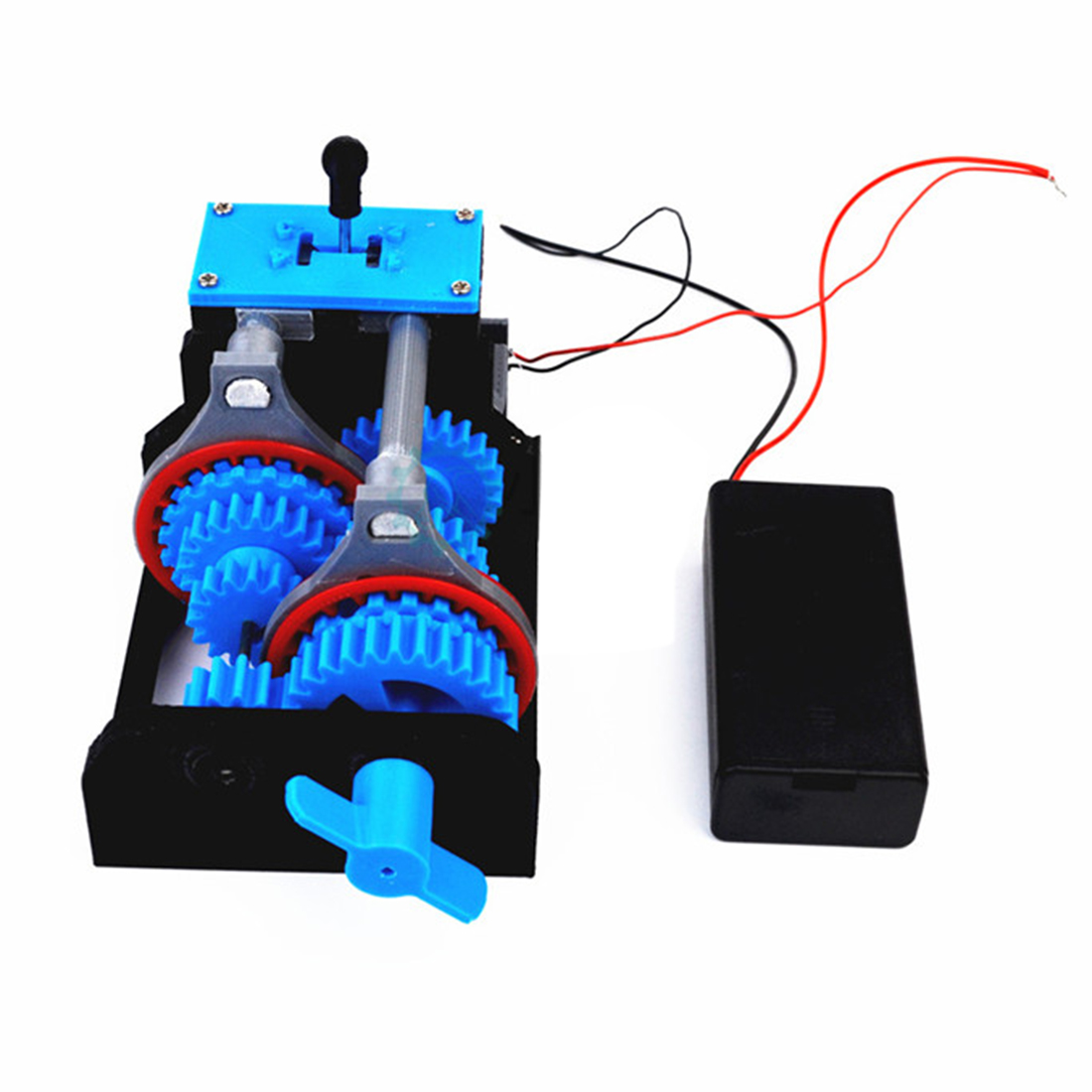 3D Printed Four-Speed Transmission Simulation Model DIY Stem Toy With Battery Box Educational Toy Gift For Kid - Motor Version