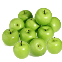 Display Fruit Wedding-Decoration Artificial-Apples Green Apple Cheap Plastic for Shop