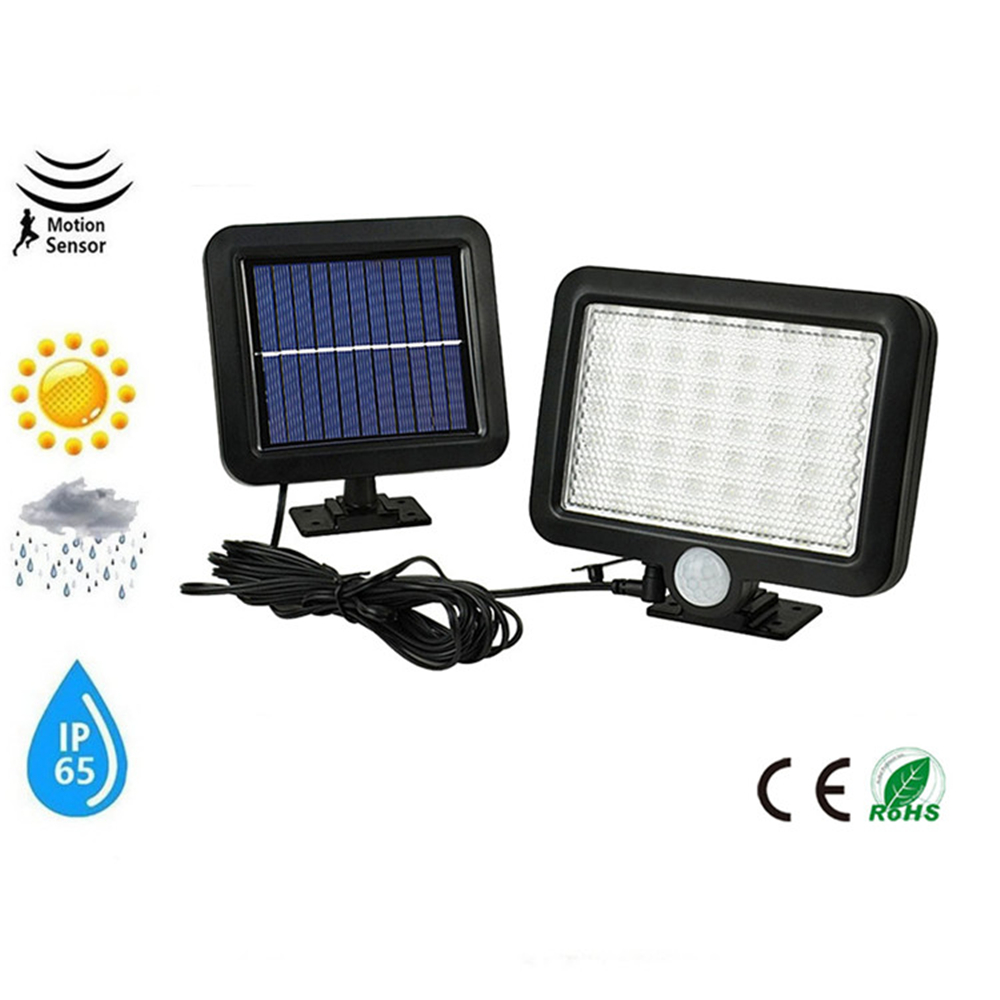 56/30 LED Solar Motion Sensor Light Outdoor Wall Lamp Waterproof Solar Powered Light With 3 Intelligent Modes 3 LEDs Both Side F