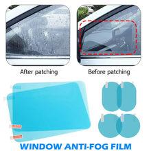 Espejo retrovisor lateral impermeable para coche, película de cristal antiniebla para ventana lateral, puede proteger su visión de conducción en días lluviosos, 2/4 Uds.