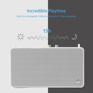 Image 4 - GGMM Outdoor/Indoor Bluetooth Speaker Portable Wireless HiFi Stereo Speaker 20W Powerful Loudspeaker 4 Driver Sound Box With Mic