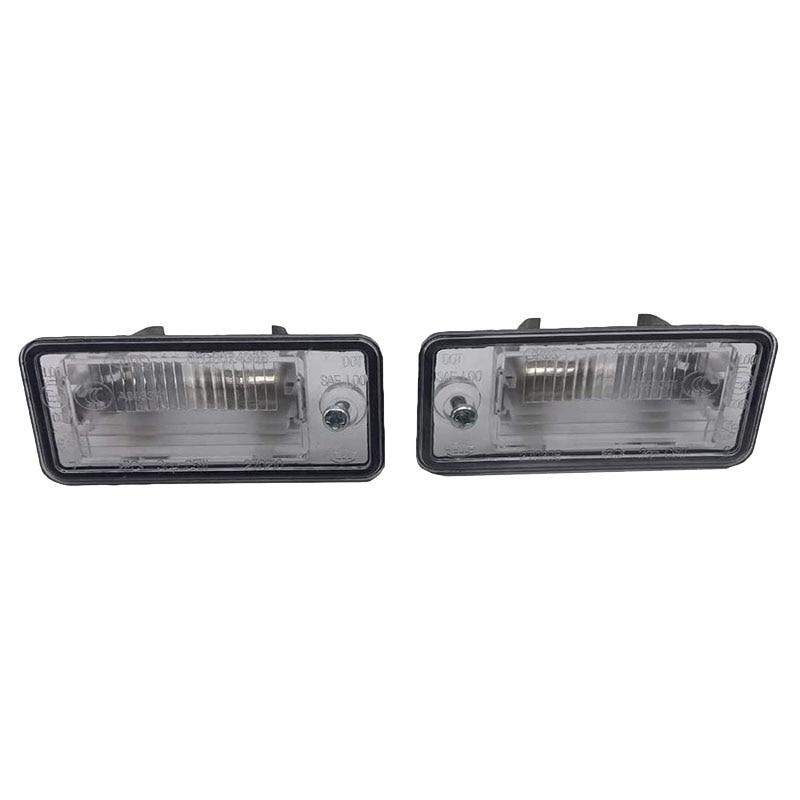 2Pcs License Plate Light Lamp Lens 8E0807430A 8E0807430B For Au-di A3 A4 S4 B6 B7 A6/S6 Q7