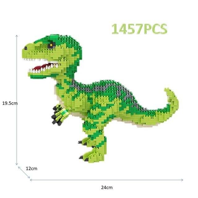 Balody Dinosaur Tyrannosaurus Rex Velociraptor Animal Monster Diamond Mini Building Small Blocks Brick Toy no Box