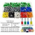 800 sztuk/partia zaciski elektryczne do drutu kablowego rury preizolowane rękaw złącze zaciskowe AWG22-10 0.5-6.0mm2