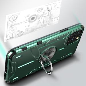 Image 5 - Metal alüminyum zırh iPhone için kılıf 11 kılıf funda coque iPhone xs için xr 11 Pro Max telefon kılıfı kapak darbeye dayanıklı Fundas tutucu