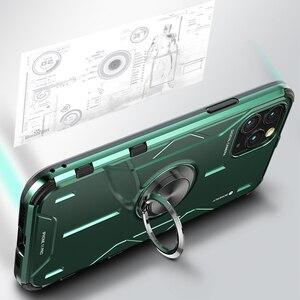 Image 5 - מתכת אלומיניום שריון מקרה עבור iPhone 11 מקרה funda coque עבור iPhone xs xr 11 פרו מקס טלפון Case כיסוי עמיד הלם Fundas מחזיק