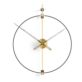 Zegary ścienne akcesoria do salonu wystrój zegara Nordic dekoracja domu do kleju nowoczesny duży duży dekoracyjny zegarek sypialnia tanie i dobre opinie CN (pochodzenie) Europejska Metal QUARTZ ZAGARY ŚCIENNE Igła