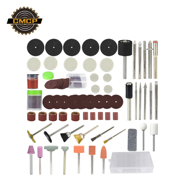 CMCP 113pcs Rotary Tool Accessories Set For Grinding Sanding Polishing Cutting Universal Fitment for Dremel Tools