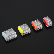 Quick wire connector 10 pieces mini universal compact terminal block plug-in electrical connectors