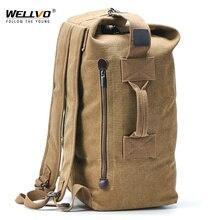 Büyük adam seyahat çantası dağcılık sırt çantası erkek bagaj tuval kova omuz ordu çanta erkek erkekler için sırt çantaları mochilas XA88C