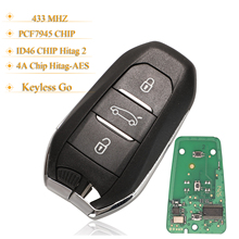 Kutery 3ボタンリモコンキーレス車のキープジョー208 308 3008 508 5008シトロエンC4 DS4 DS5 433mhz 4A/ID46Chip