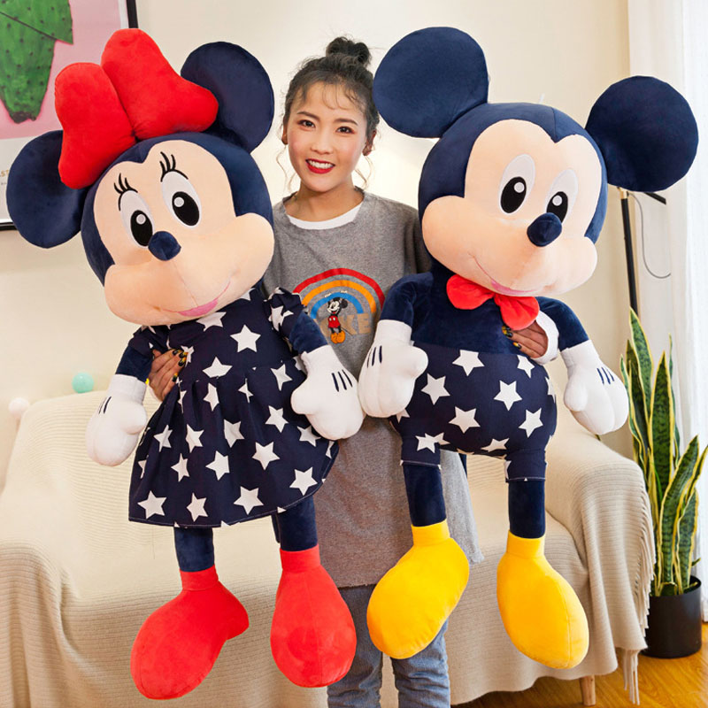 Stuffed Mickey&Minnie Mouse Doll Plush Toy Soft Star Mickey Minnie Dolls Cushion Pillow Birthday Wedding Gifts For Kids Children