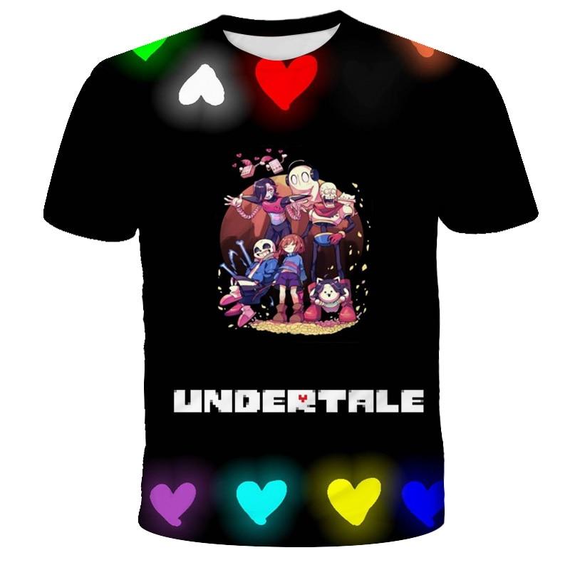 T-shirt motif squelette pour garçons et filles, à la mode, avec motif de dessin animé imprimé en 3D