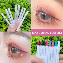 8 opcional colorido fosco líquido lápis delineador à prova dwaterproof água maquiagem seca rápida longa duração olho forro olhos cosméticos caneta tslm1