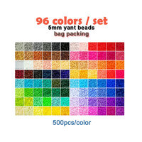 Yantjouet 5mm Iron Beads 96color/set Black White for Kid Hama Bead Diy Puzzles High Quality Handmade Gift children Toy