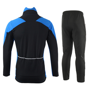 Image 2 - ARSUXEO Men Winter Cycling Jacket Set Windproof Waterproof Thermal Sportswear Bicycle Pants Trousers  Bike Suits Clothing 15FF