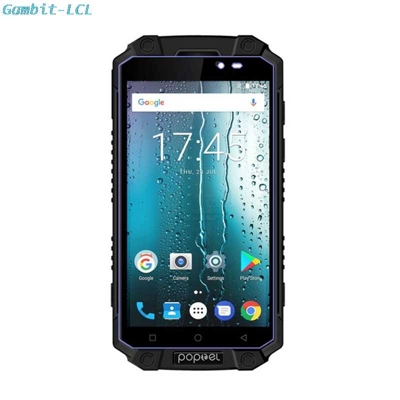 "2.5D 9H Original Tempered Glass For Poptel P9000 MAX (Land Rover) 5.5""  Screen Protector protective Glass film Case cover"