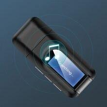 USB Dongle Bluetooth 5.0 Audio récepteur émetteur avec écran LCD 2IN1 Mini 3.5mm Jack AUX USB adaptateur sans fil pour TV voiture PC