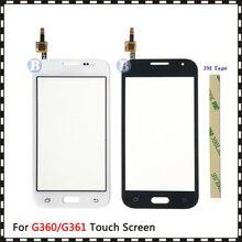 "4.5 ""Samsung Galaxy DUOS çekirdek başbakan G360 G360H G3608 G361 G361H G361F dokunmatik ekran Digitizer sensörü cam Lens panel"