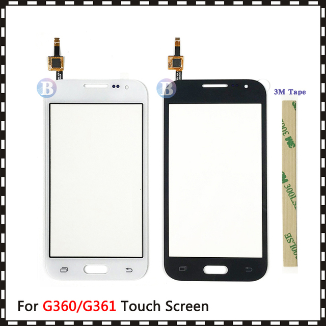 """4.5 """"Voor Samsung Galaxy Duos Core Prime G360 G360H G3608 G361 G361H G361F Touch Screen Digitizer Sensor Glas Lens panel"""