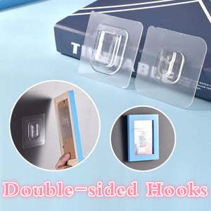 Strong Transparent Double-sided Suction Cup Sucker Wall Storage Holder Adhesive Wall Hooks Wall Hanger For Kitchen Bathroom
