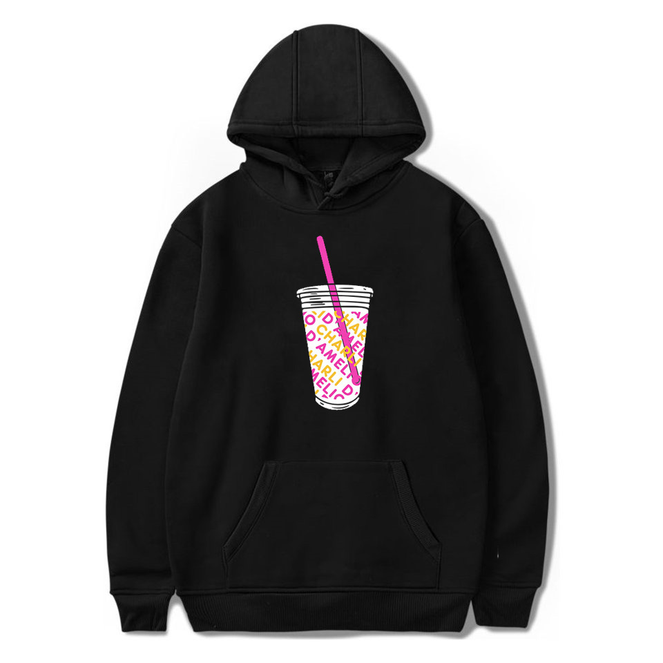 FRDUN TOMMY 2020 Ice Coffee Splatter Hoodies Sweatshirts Men And Women Hoodie Charli DAmelio Pullover Unisex Costume Tracksuit