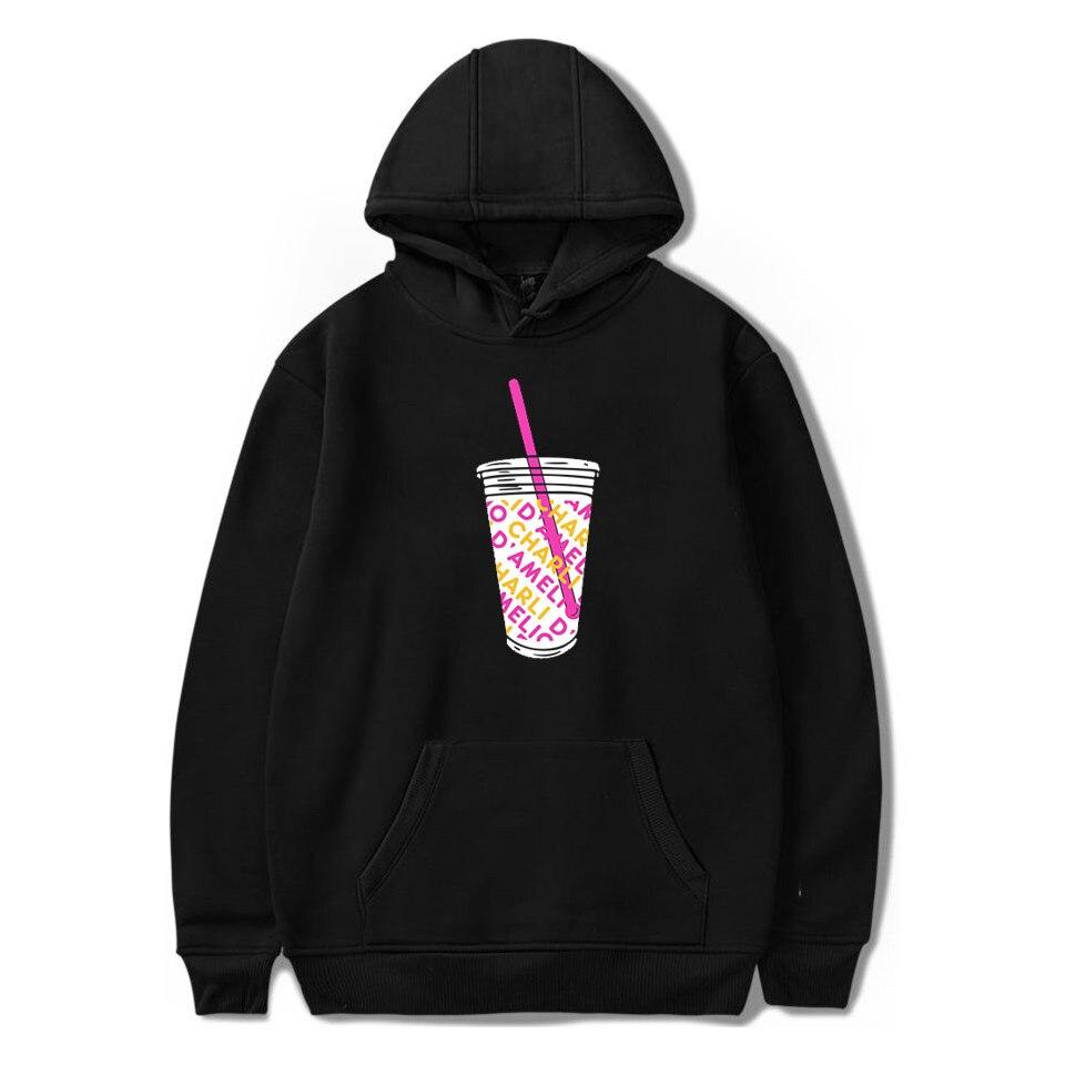 FRDUN TOMMY 2020 Ice Coffee Splatter Hoodies Sweatshirts Men And Women Hoodie Charli DAmelio Pullover Unisex Costume Tracksuit
